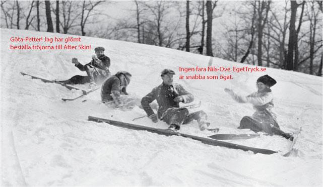 Eget tryck after ski t-shirts