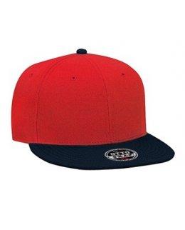 Röd/Marinblå snapback med egen brodyr - OTTO