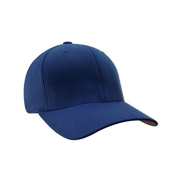 Kungsblå Flexfit-keps, böjd