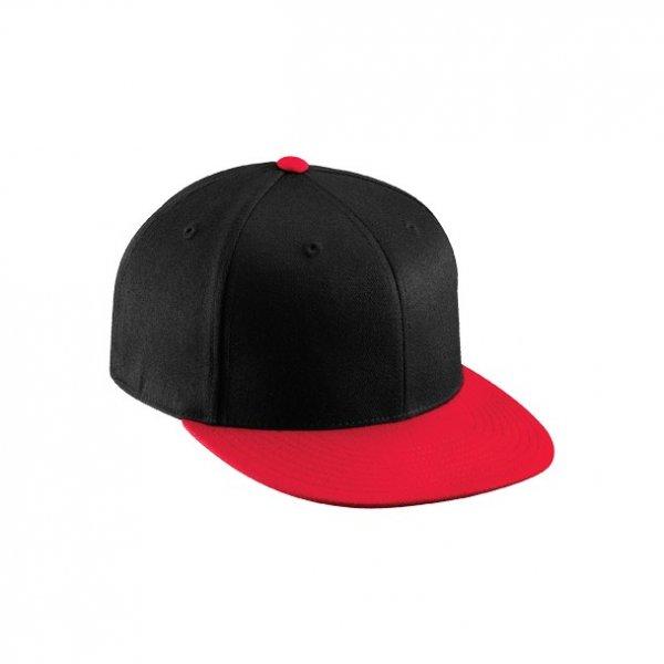 Svart / Röd Flexfit, 210 Fitted