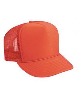 Orange truckerkeps med eget tryck eller brodyr