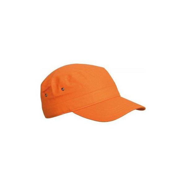 Orange armykeps med egen brodyr