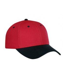 Röd/svart keps baseball med egen brodyr