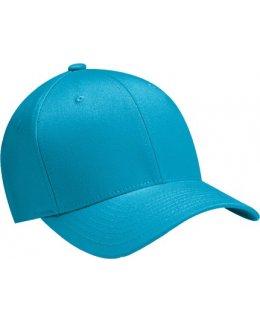 Azurblå Flexfit-keps, böjd