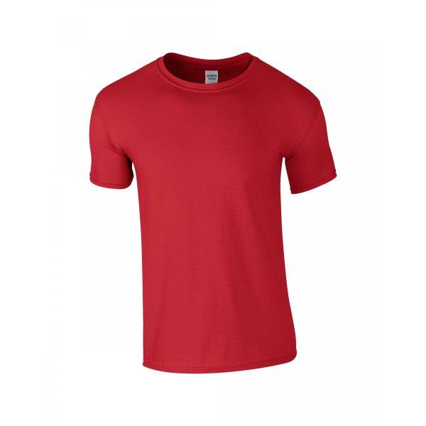 Röd herr t-shirt med eget tryck