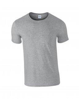 Gråmelerad herr t-shirt med eget tryck