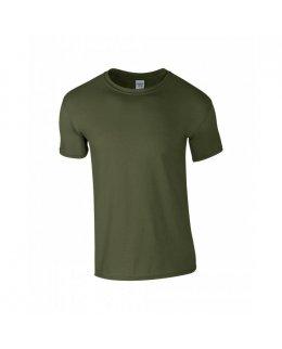 Militärgrön herr t-shirt med eget tryck