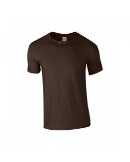 Mörkbrun herr t-shirt med eget tryck