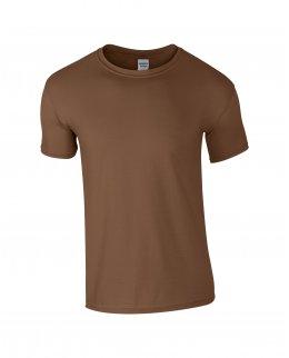 Kastanjbrun herr t-shirt med eget tryck