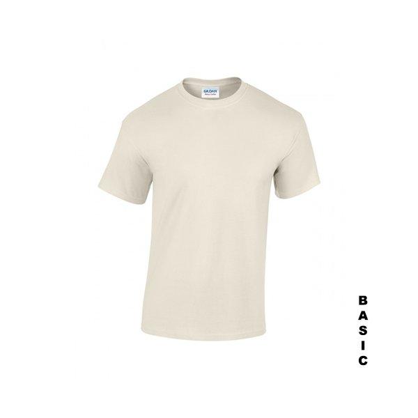 Naturvit t-shirt med eget tryck