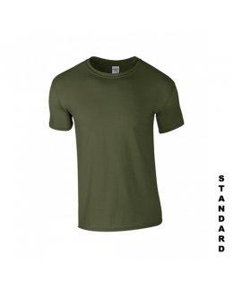 Militärgrön t-shirt med eget tryck