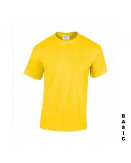Gul t-shirt med eget tryck