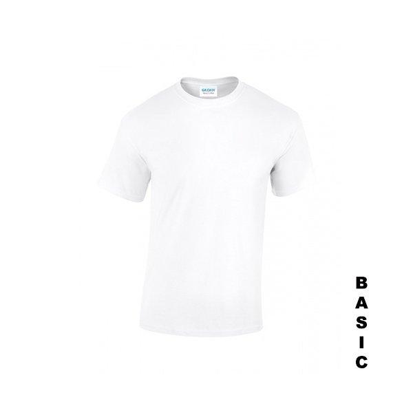 Vit t-shirt med eget tryck