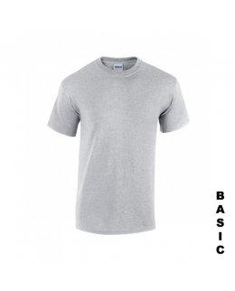 Gråmelerad t-shirt med eget tryck