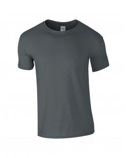 Blyertsgrå herr t-shirt med eget tryck
