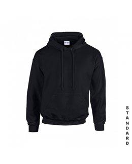 Svart hoodie med eget tryck