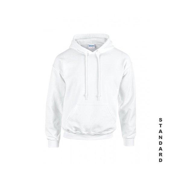 Vit hoodie med eget tryck
