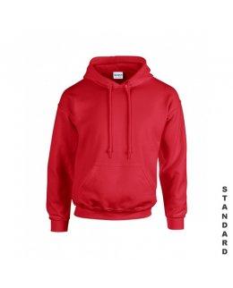 Röd hoodie med eget tryck