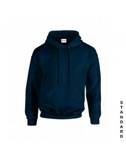 Marinblå hoodie med eget tryck