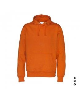 Orange hoodie med eget tryck