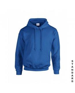 Kungsblå hoodie med eget tryck