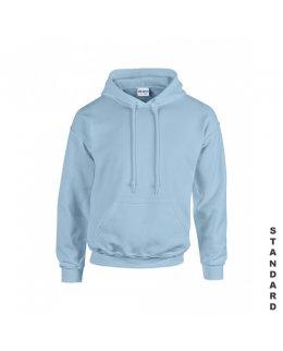 Ljusblå hoodie med eget tryck