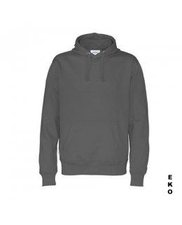 Blyertsgrå hoodie med eget tryck