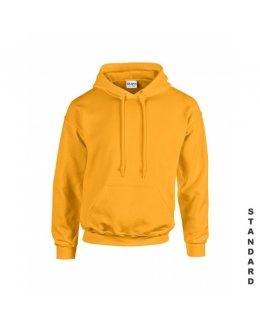 Gul hoodie med eget tryck