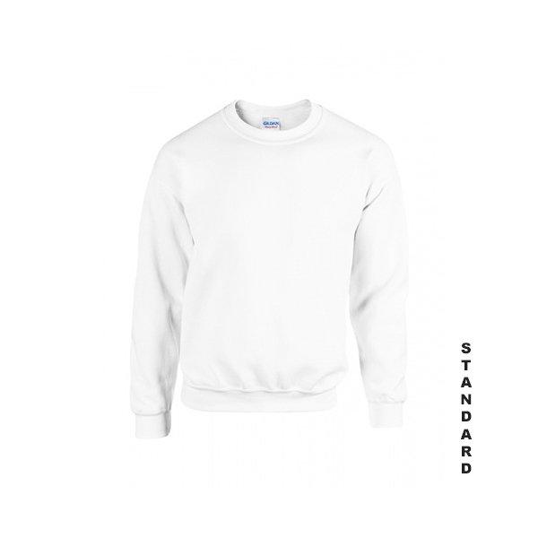 Vit sweatshirt med eget tryck