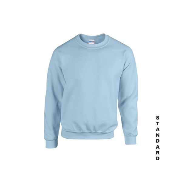 Ljusblå sweatshirt med eget tryck