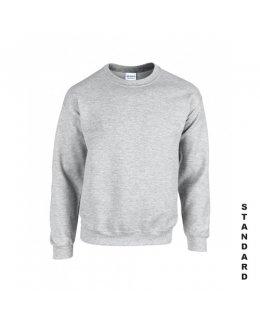 Gråmelerad sweatshirt med eget tryck
