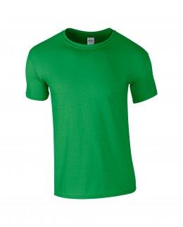 Klargrön herr t-shirt med eget tryck
