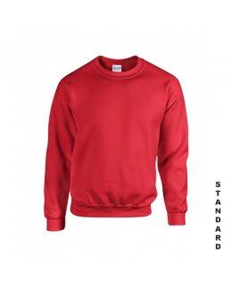 Röd sweatshirt med eget tryck