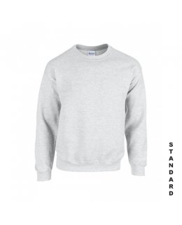Askgråmelerad sweatshirt med eget tryck