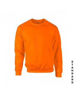 Orange sweatshirt med eget tryck