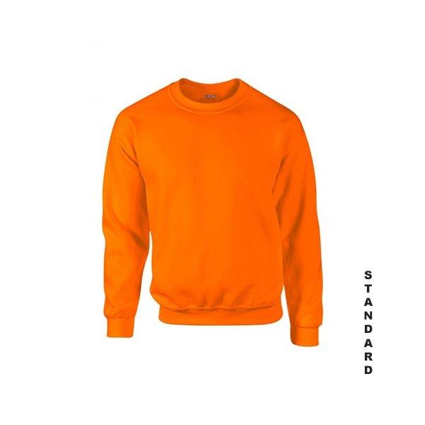 Orange sweatshirt med eget tryck