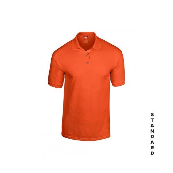 Orange herr pikétröja med eget tryck