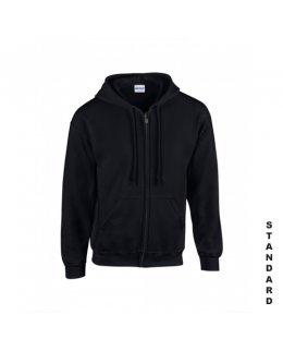 Svart zip hoodie med eget tryck