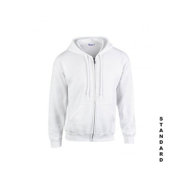 Vit zip hoodie med eget tryck 0f7c373e6602f