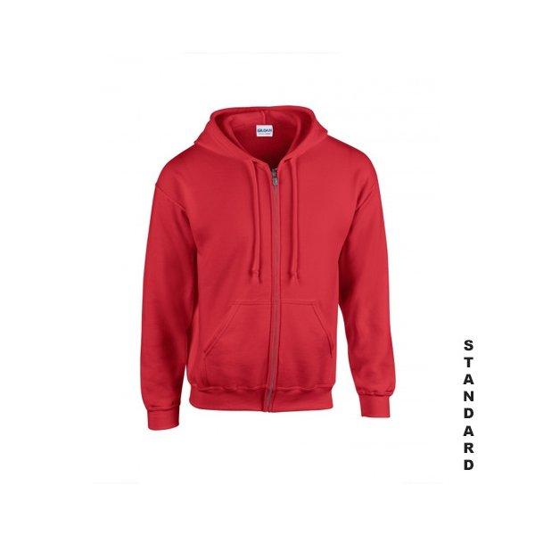 Röd zip hoodie med eget tryck 0792b477c77b3