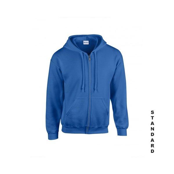 Kungsblå zip hoodie med eget tryck