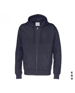 Marinblå zip hoodie med eget tryck