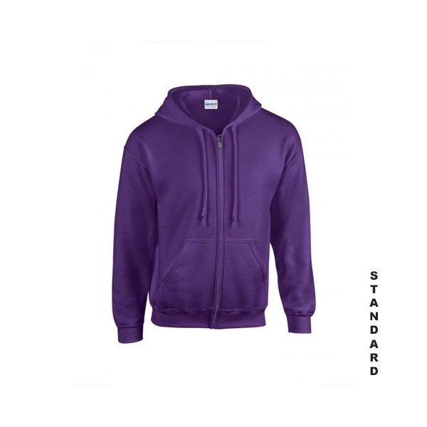 Lila zip hoodie med eget tryck