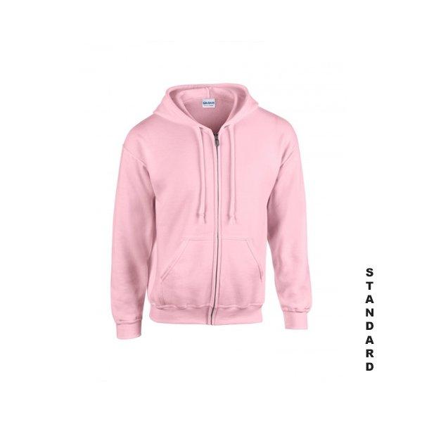 Rosa zip hoodie med eget tryck