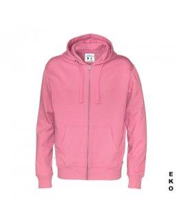 Ljusosa zip hoodie med eget tryck