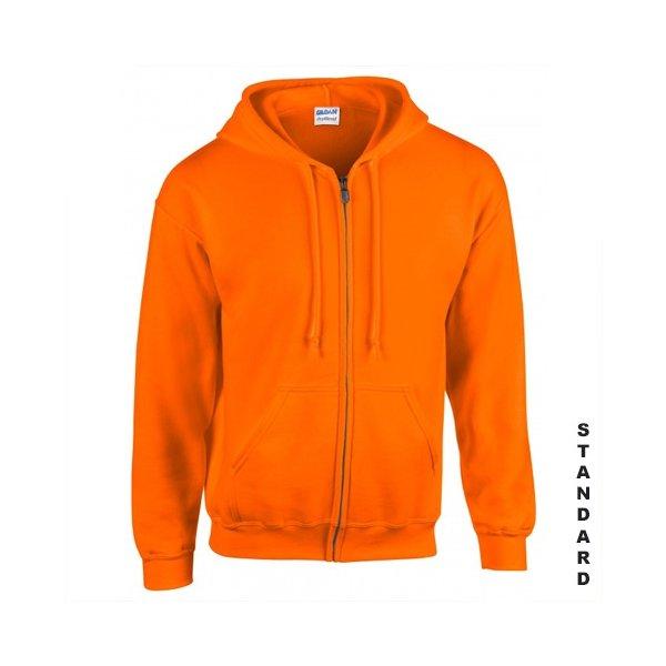 Orange zip hoodie med eget tryck