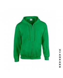 Klargrön zip hoodie med eget tryck