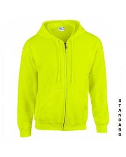 Varselgrön zip hoodie med eget tryck