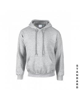 Gråmelerad hoodie med eget tryck