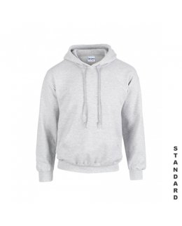 Askgrå hoodie med eget tryck